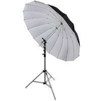 "illumi 72"" Parabolic Umbrella - Black/White"