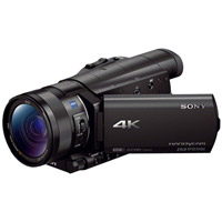SonyFDR-AX100B 4K HD Camcorder with Type 1.0  Exmor-R CMOS Sensor