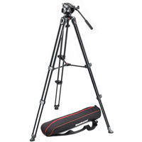 ManfrottoMVH500A Video Head With MVT502AM Tripod and Carry Bag
