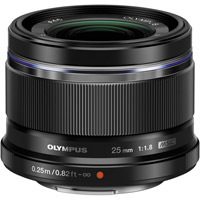 OlympusM.Zuiko 25mm f/1.8 Black Lens