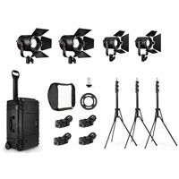 Fiilex4 Light Kit K412 with 2xP360EX 2xP180E, 4xBD, 3xStands, Soft Box, Case