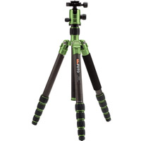 MeFoto GlobeTrotter Travel Tripod Kit Carbon Fiber - Green