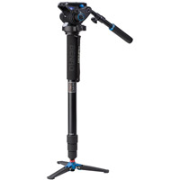 BenroA48TDS6 Aluminum Video Monopod Kit with S6 Video Head and Bag
