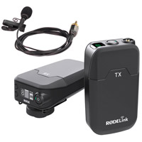 Rode MicrophonesRodeLink Film Maker Kit Wireless Microphone System - Beltpack Tx w/ Lav & Camera-Mount Rx