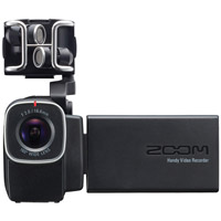 ZoomQ8 Handy Video Recorder and 4- Track Audio Recorder with XLR