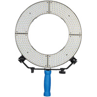 LED Go LG-160S 4 KIT LED Ring Light 5600K with 2 x AA Battery Box, Handle, Filters and Case