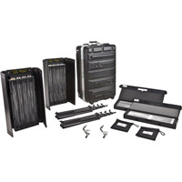 Kino FloDiva Lite 415 Universal 2-Light Kit with Flight Case