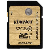 Kingston Tech32GB SDHC UHS-I U1 Class 10 Card, 90MB/s read and 45MB/s write