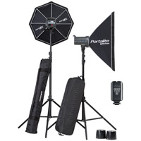 ElinchromD-Lite RX 4/4 Softbox To Go Set  with EL-Skyport Transmitter Plus,  2x Stands and Stand Bag