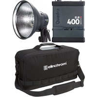 Elinchrom ELB 400 Hi-Sync To Go Set with 1x ELB400, 1x Quadra HS Head ProTec Bag