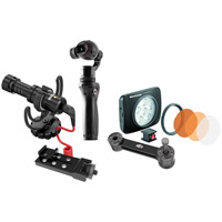 DJIOsmo LED and Microphone Bundle. Includes Osmo, Lumie Art, Rode VideoMicro, Arm and Mount