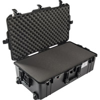 Pelican1615 Air Case Black w/Foam w/Retractable Handle & Wheels