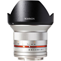 Rokinon12mm F2.0  Ultra Wide Angle Lens for Fuji X Mount (Silver)