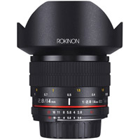 Rokinon14mm F2.8 IF ED Super Wide Angle Lens for Nikon AE with Automatic Chip