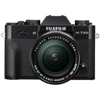 FujiFujifilm X-T20 Mirrorless Kit Black w/ XF 18-55mm f/2.8-4.0 R LM OIS Lens