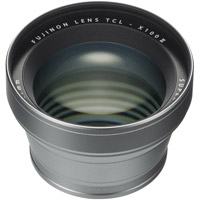 FujiTCL-X100S II Tele Conversion Lens for X100 Series (Silver)