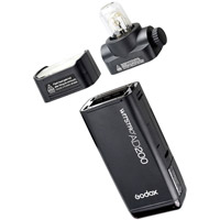 GodoxPocket Flash AD200 Kit c/w 2 Heads, Bracket, Battery, Charger, Cord & Carrying Bag