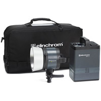Elinchrom ELB 1200 Hi-Sync To Go Set with ELB 1200 Pack, ELB 1200 HS Head, Reflector, Snappy and ProTec Bag