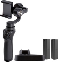 DJIOsmo Mobile Handheld 3-Axis Gimbal with 1 Extra Battery and Base