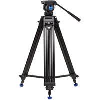 Benro Aluminum Dual Tube  3 section  Video Tripod Kit with K5 Video Head and Bag KH25N
