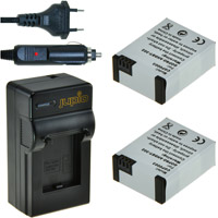Jupio Kit: Battery Charger and 2 x AHDBT-302 Batteries for GoPro Hero 3 -1200 mAh