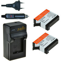 Jupio Kit: Battery Charger and 2 x AHDBT-401 Batteries for GoPro Hero 4 - 1160 mAh