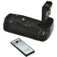 Jupio BG-E14 Batterygrip for Canon EOS 70D/80D with Wireless Remote Control Included