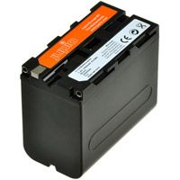 Jupio NP-F970 Lithium-Ion Rechargeable Battery for Sony Cameras - 7400 mAh