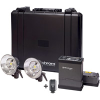 Elinchrom ELB 400 Living Light To Go with ELB 400 PS, 2 x Quadra Pro Head, 2 x ELB 400 Lithium-Ion Battery