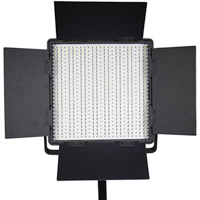 LED Go LG-600SC LED Light 5600K with V Mount, Barndoors, WiFi, Diffuser, DC Adapter and Filters