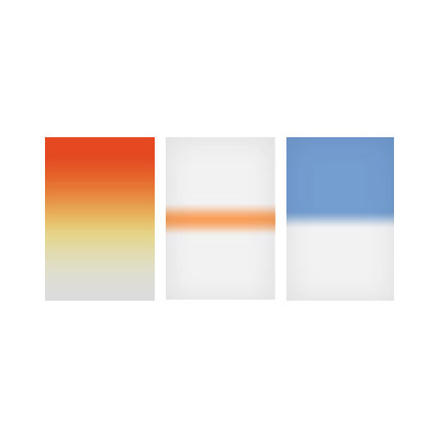 100x150mm Sky Kit Graduated Resin Drop In Filters Set Includes Sunset 2, Coral Stripe, and Sky Blue