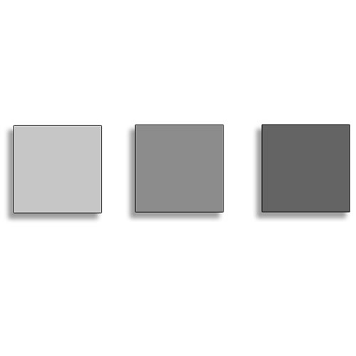 100x100mm Neutral Density Polyester Drop In Filter Set Includes 0.3, 0.6, and 0.9