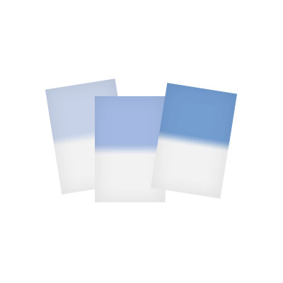 100x150mm Sky Blue 3 Graduated Soft Resin Drop In Filter