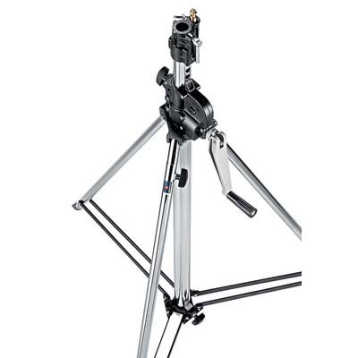 083NWB Wind Up Stand with Levelling Leg - Black