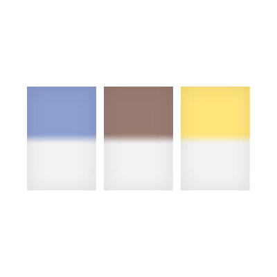 100x150mm Landscape Graduated Resin Drop In Filters Set Includes Real Blue 2, Sepia 2, and Str