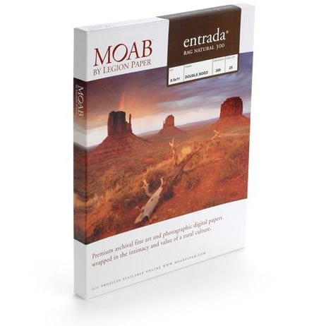 """8½""""x11"""" Entrada 300gsm Natural 2 Sided Fine Art Paper - 25 Sheets"""