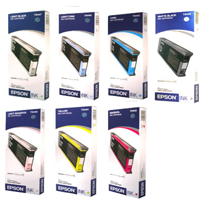 Stylus 7600/9600 Ink Set w/7 Cartridges w Matte Black 220ml