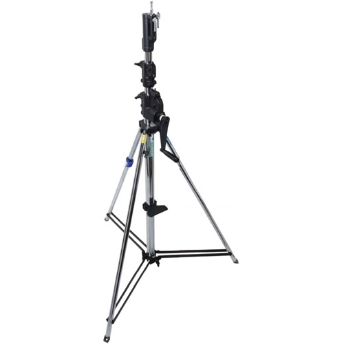 483T 3 Section Wind-Up Stand with Auto Self Locking Device - Silver