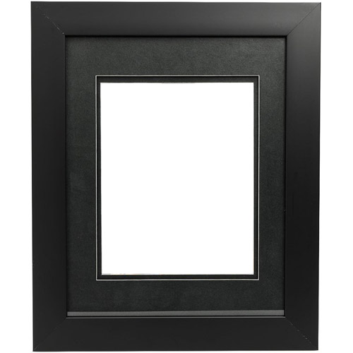 "Metro 16""x20"" (4-4""x6"") Black with Black Mat"