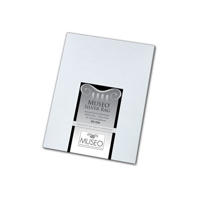 """50"""" x 50' Museo Silver Rag 300gsm - Roll"""