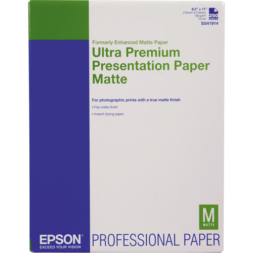 "8.5"" x 11"" Ultra Premium Presentation Paper Matte - 250 Sheets"