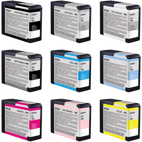 Stylus Pro 3800 Color Ink Set 9 Cartridges