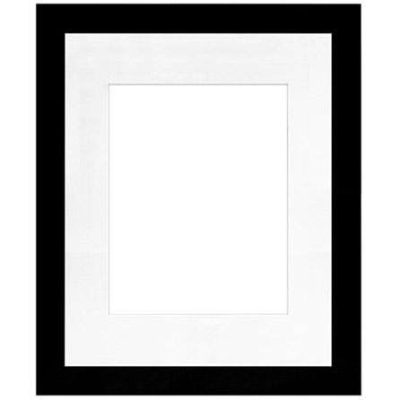 "16"" x 20"" Metro Black Seamless Frame with 11"" x 14"" Single Mat Opening # 51"
