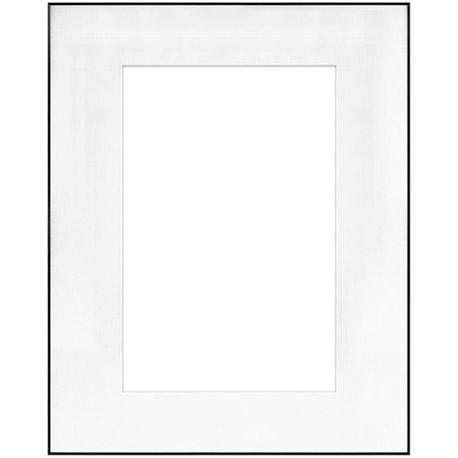 "16"" x 20"" Fineline Black Aluminum Frame with 10"" x 15"" Single Mat Opening # 52"