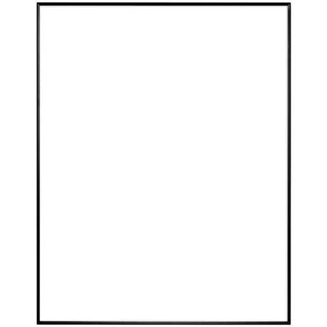 "12"" x 16"" Fineline Black Aluminum Frame with no mat"