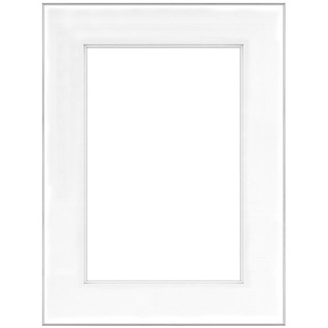 """18"""" x 24"""" Fineline Silver Aluminum Frame with 12"""" x 18"""" Shadow Mat Opening # 62"""