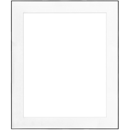 "20"" x 24"" Fineline Black Aluminum Frame with 16"" x 20"" Single Mat Opening # 67"