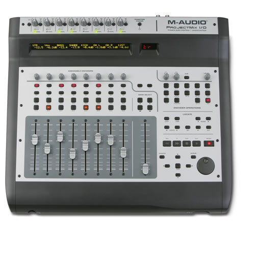 M audio projectmix i o control surface with motorized for Daw control surface motorized faders