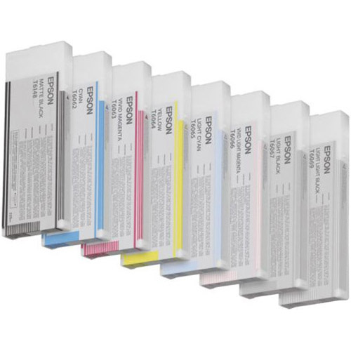SP 7800 / 9800 Color Ink Set 2007 8 Carts with Matte Black 220ml