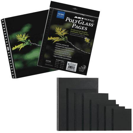 """11""""x14"""" PolyGlass Pages Art size, 10 pcs per pack"""